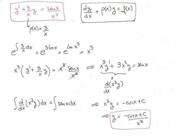 Ejercicio 2 resuelto de Ecuaciones diferenciales lineales de primer orden