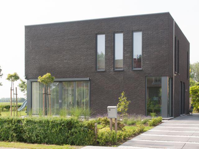 Moderne woning • nieuwbouw • houtskeletbouw • Vrasene ...