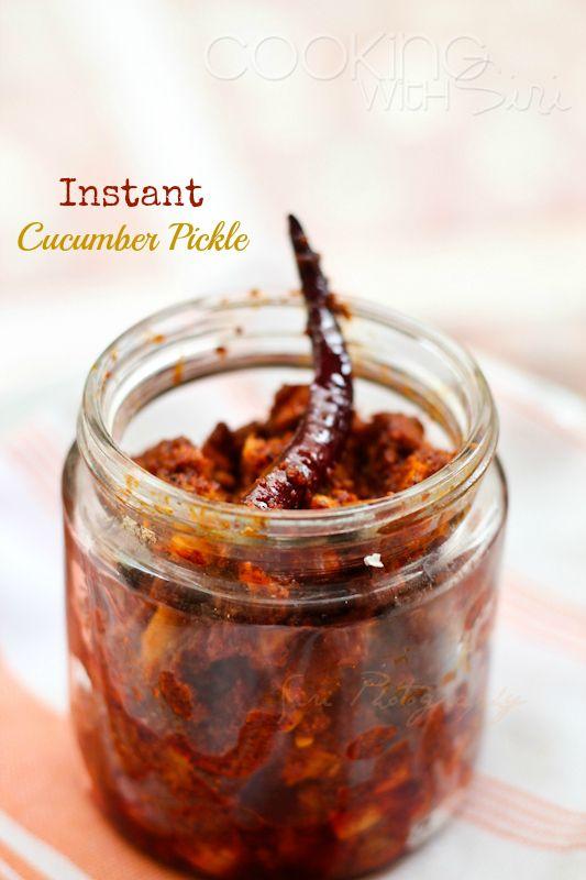 Cooking With Siri: Instant Dosavakaya (Dosa Avakai) | Yellow Cucumber Pickle #Recipe