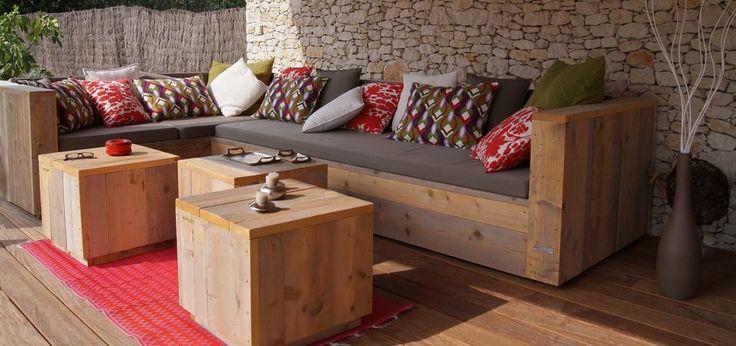 41 best caisse xxl salon de jardin id es images on pinterest woodworking backyard - Table haute palette ...