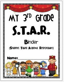 This is the binder cover I created for my students next year!