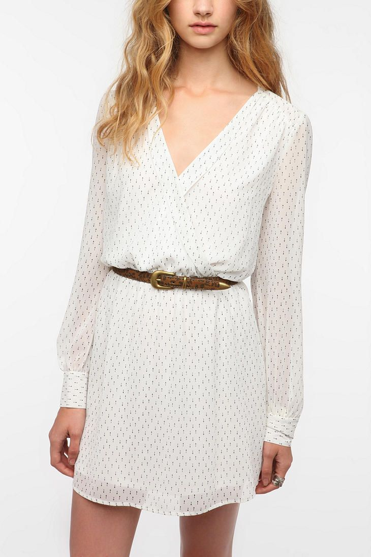 Coincidence & Chance Chiffon Surplice Dress $39.99 UO