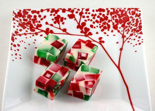 christmas broken glass jello #recipe