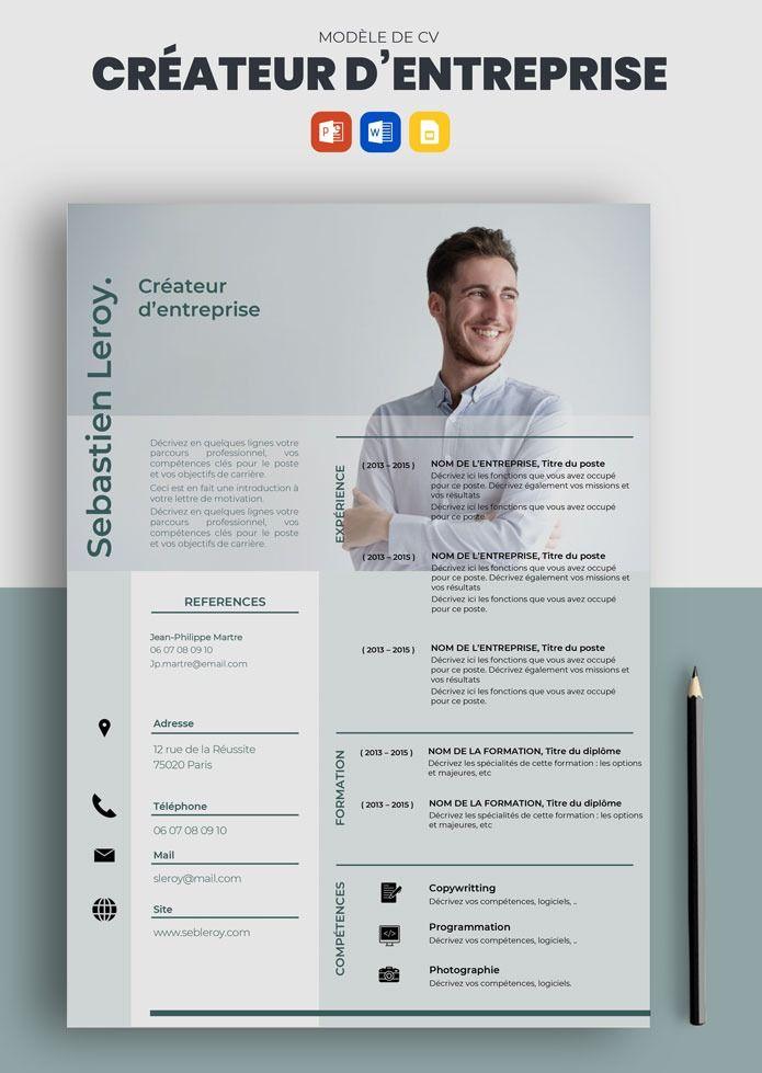 Curriculum Vitae Exemple Cv Createur D Entreprise Word Pptx A Telecharger En 2021 Exemple Cv Curriculum Vitae Exemple Modele Cv