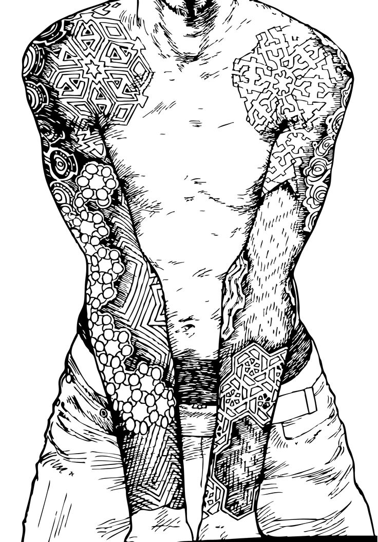 Tatoo tatouage coloriage anti stress art thearapie art therapy adult coloring high quality image - Coloriage de tatouage ...