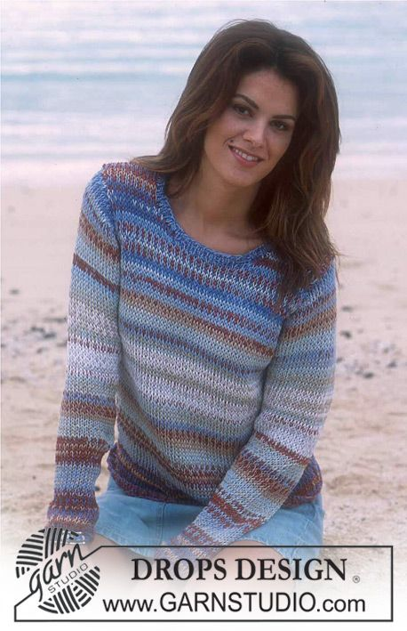 Free pattern: DROPS Pullover in Safran and Cotton Viscose ~ DROPS Design