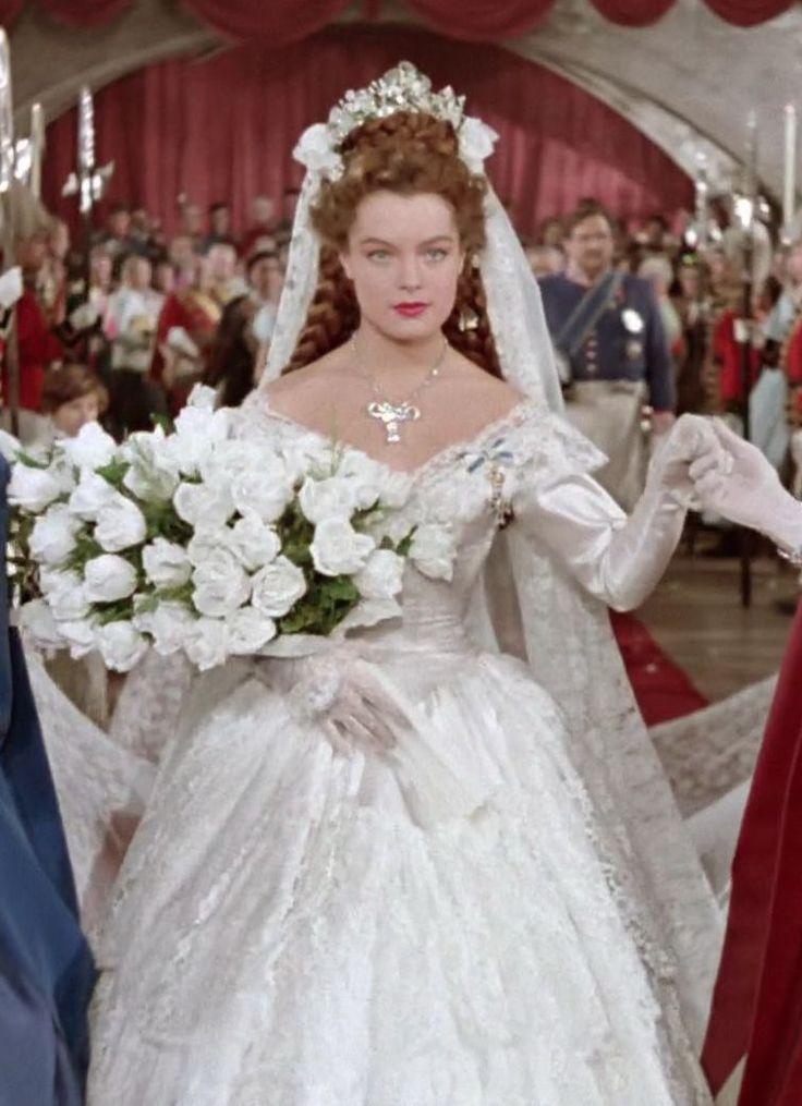sissi 1955 romy schneider wedding dress gown with off