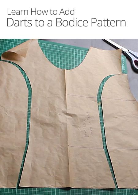 Want to make your clothes fit better? Sewing darts is one way to do so! In this lesson, learn how to add three different types of darts to the bodice pattern.