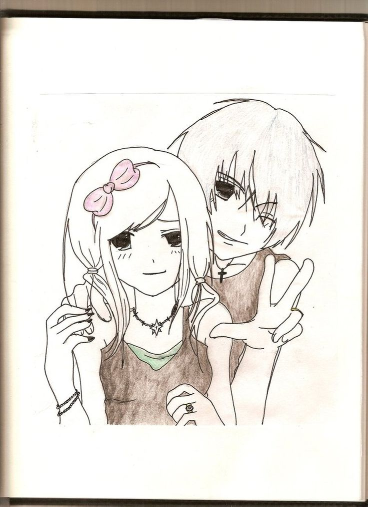 Cute Anime Emo Couples Drawings Images & Pictures