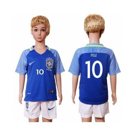 Brasilien Trøje Børn 2016 #Pele 10 Udebanetrøje Kort ærmer.199,62KR.shirtshopservice@gmail.com
