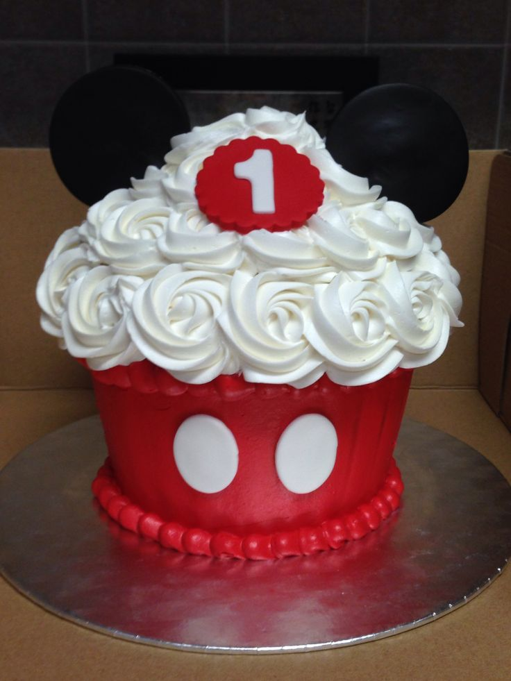 Mickey Mouse Smash Cake Alex Bday Ideas Mickey Mouse