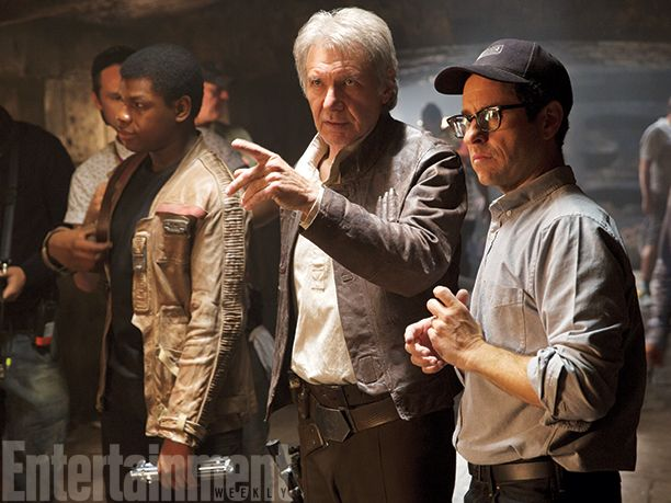 'Star Wars: The Force Awakens': An Exclusive Gallery of New Photos. Here's a collection of new behind the scenes pix with John Boyega's Finn, Harrison Ford as Han Solo, and director J.J. Abrams.