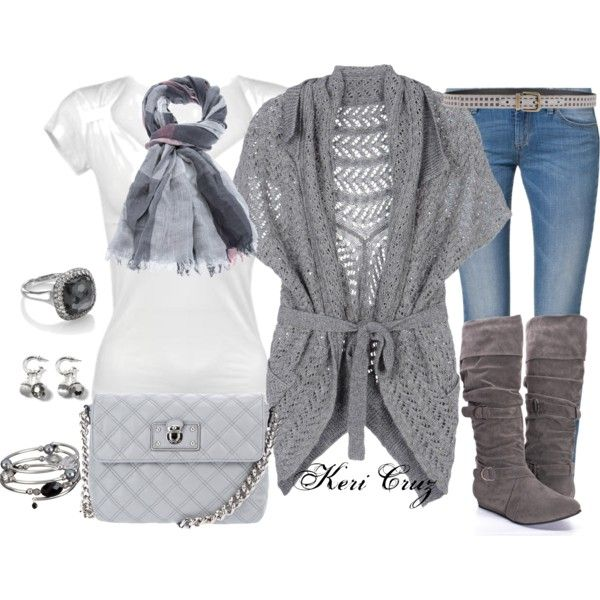 Gorgeous Grey Autumn by keri-cruz on Polyvore