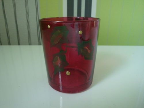 Colony/Wax Lyrical Christmas Holly Glass Room Scenter Votive Candle Holder | eBay