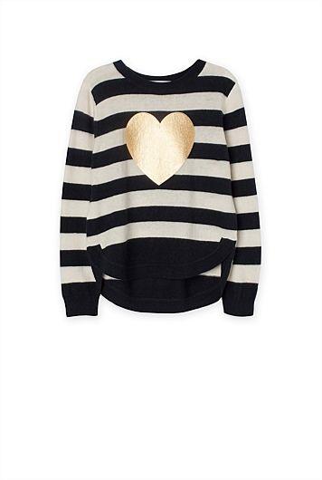 Stripe Heart Knit