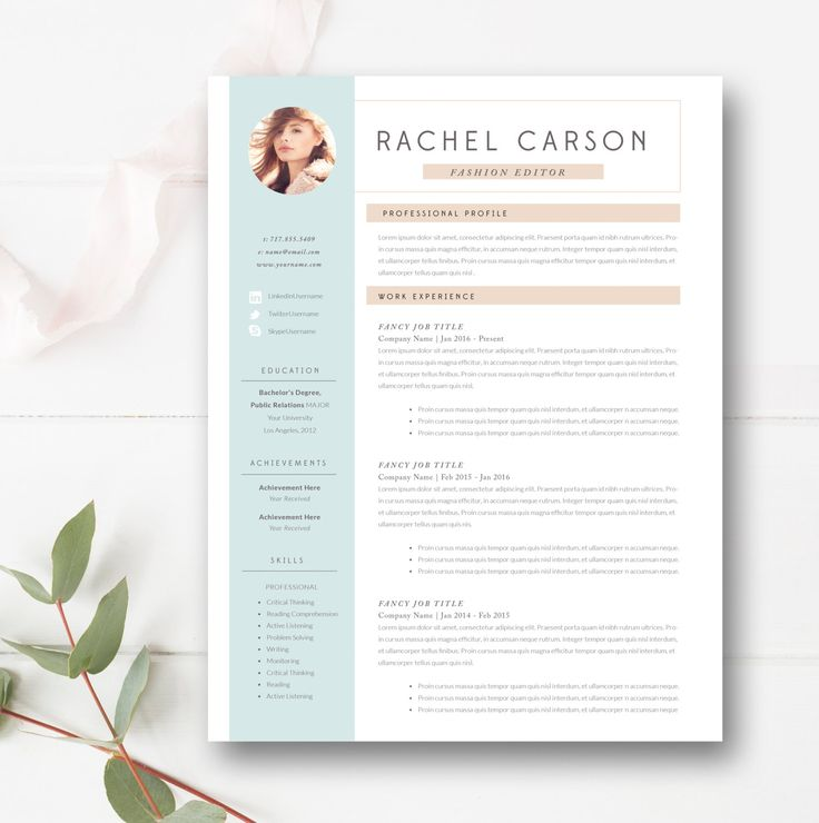 Modern Resume Template 3 Page by By Stephanie Design on - fancy resume template