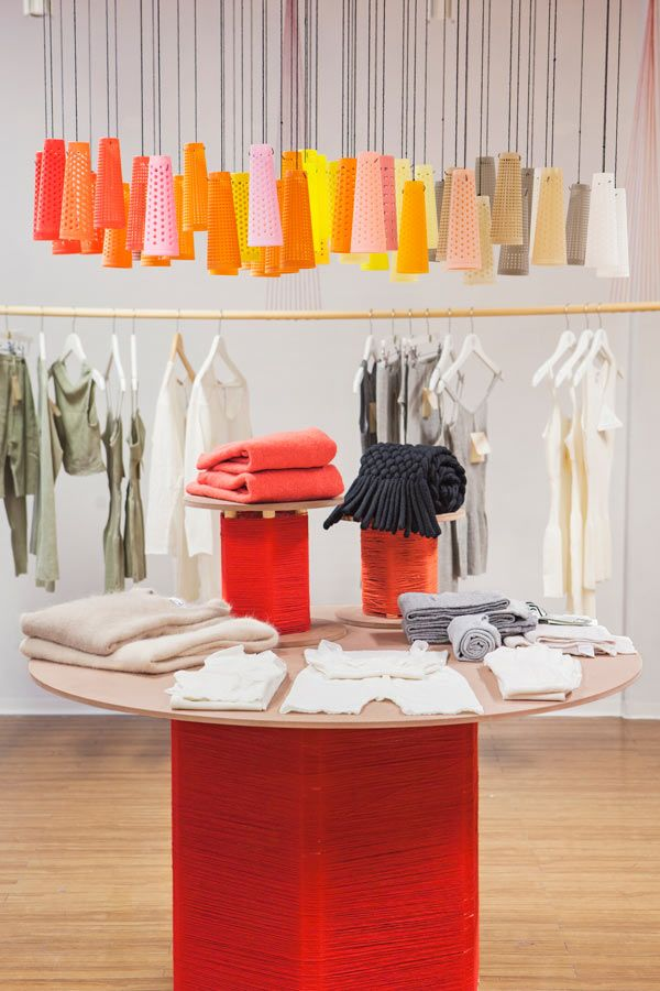 wool concept store byggstudio.com  --- love this specific installation above the round display table.