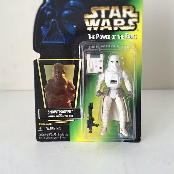 Star Wars Figure - Snowtrooper - Kenner Star Wars Toy, Vintage Star Wars Action Figure, 90s Toy, Empire Strikes Back Stormtrooper