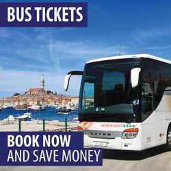 Information on bus ticket prices in Croatia for the most popular routes, connecting Zagreb, Split, Dubrovnik and other places, and frequency of thes routes