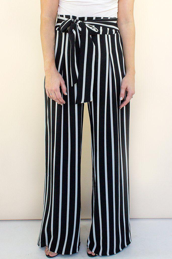 a553cf223e Tropez Striped Pant #affordable-wide-leg-pants #Black #black-flowy-pants