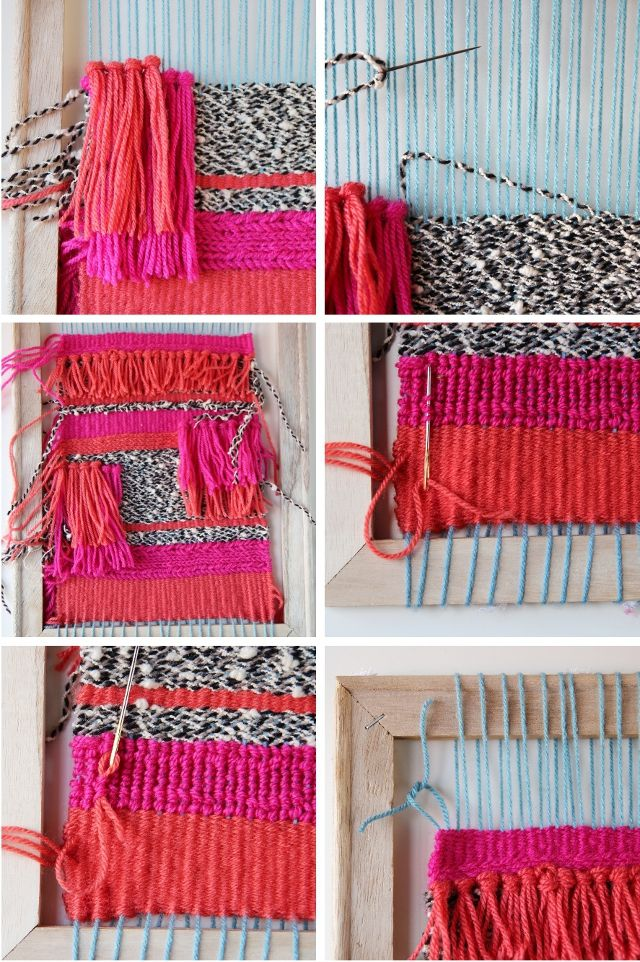 Gathering Beauty: Things I've Made From Things I've Pinned: Diy Woven Wall Hanging.