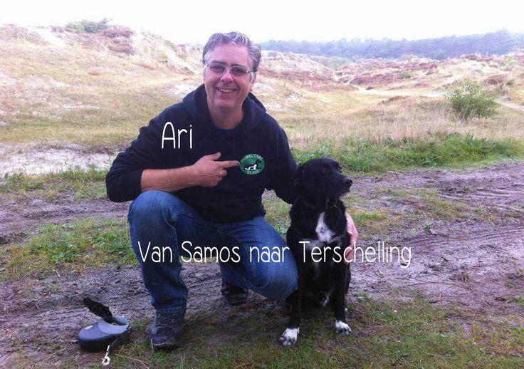 Eilandhond Ari. Van Samos naar Terschelling...