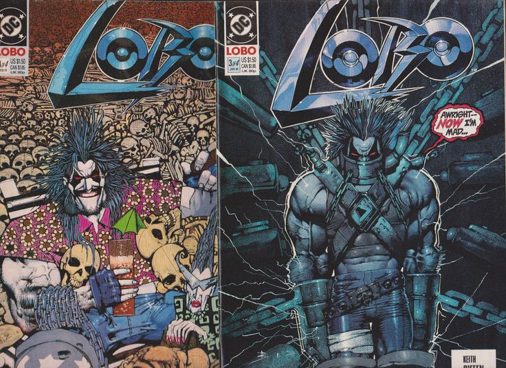 Lobo #3,4 Set (DC Comics,1991)Bisley,Giffen, Awesome!!!
