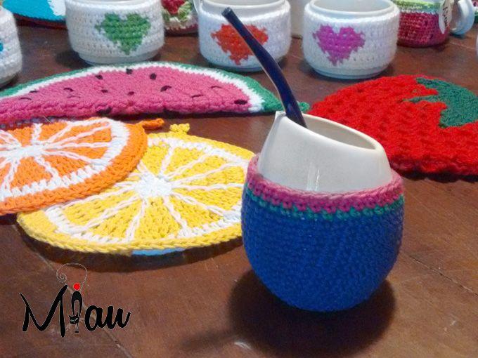 Mate con onda!! #matetejido, #crochet, #miau Consultas:anaramirez131@gmail.com