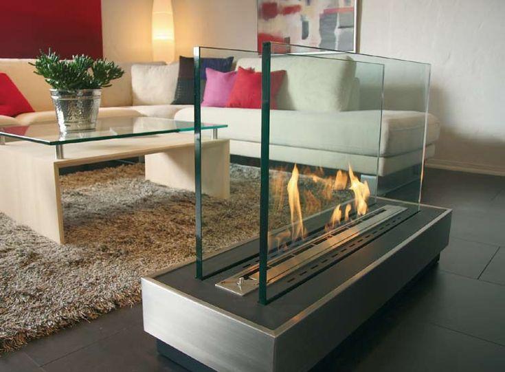 Fireplace Decorating Ideas | Glass fireplace » Modern Bio Fireplace