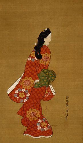 菱川師宣 「見返り美人図」 絹本着色/東京国立博物館蔵
