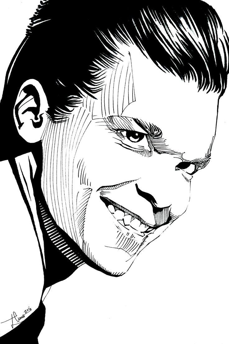 Cameron Monaghan como Jerome Valeska en Gotham T2 (tinta china)