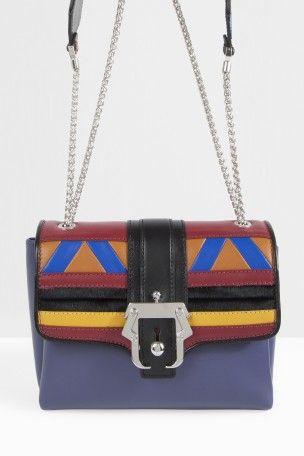 PAULA CADEMARTORI Leather Patchwork Top Handle. #paulacademartori #bags #leather #hand bags #