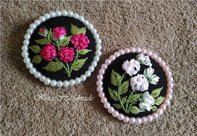 #KniaHandmade #HandmadeEmbroidery  #HandmadeBrooch #RibbonEmbroidery #EmbroideredBrooches #FloralEmbroidery #StitchEmbroidery#BrosSulam #SulamPita #SulamBenang #BrosHandmade