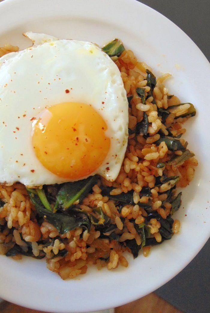 arroz con acelgas y huevo | Arroz con huevo saludable