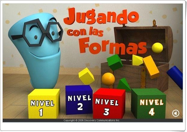 """""""Jugando con las formas"""" (Juego de figuras planas)"""