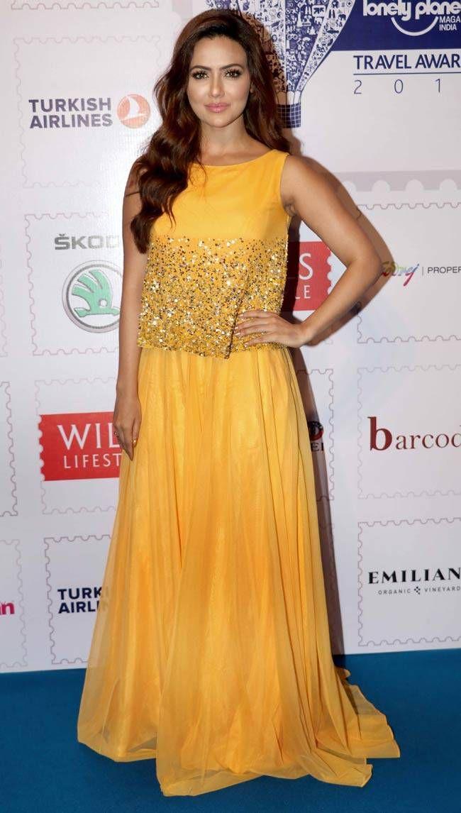 Sana Khan at Lonely Planet Travel Awards 2016. #Bollywood #Fashion #Style #Beauty #Sexy