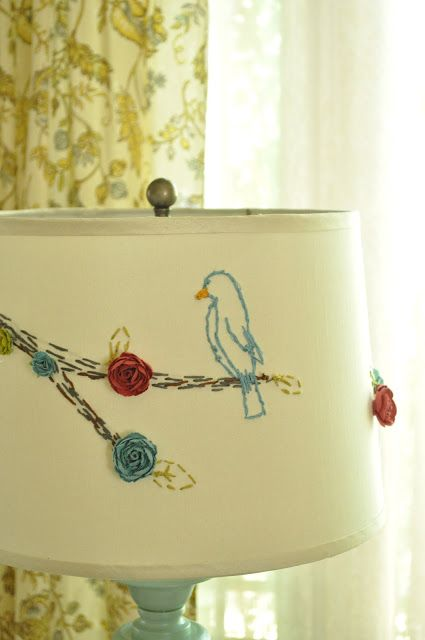 Embroidered Lamp Shades 44 best embroidered lampshades images on pinterest hand crafts embroidered lampshade audiocablefo