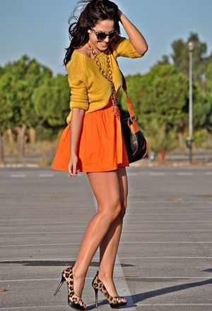 Look by @marta_coelho with #bershka #short #zara #summer #faldas #heels #skirts #pullbear #pantalones #streetstyle #sweaters #mini #shorts #mostaza #bags #mustard #sunglasses #print #trendy #fashion #orange #animal #love #dayaday #jewelry #looks.
