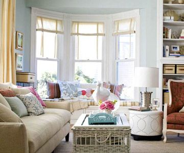 Love The Bay Windows · Bay WindowsArranging BookshelvesOrganizing  BookshelvesDecorating ...