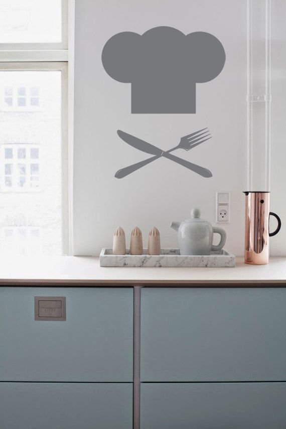 Fierce Crossbones Kitchen Utensil Decal for Kitchen, Dining Room, House, Cafe, Restaurant, Store or Lunch Room
