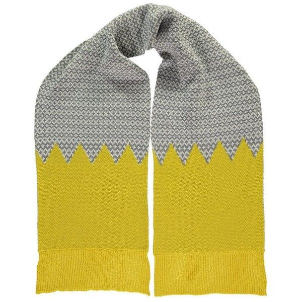 MISS POM POM Graphic Scarf - Yellow ($53) ❤ liked on Polyvore featuring accessories, scarves, yellow, oversized shawl, yellow shawl, yellow scarves, chunky scarves and oversized scarves