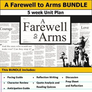 the best a farewell to arms ideas hemingway  a farewell to arms unit 5 weeks of lesson plans includes pacing guide film