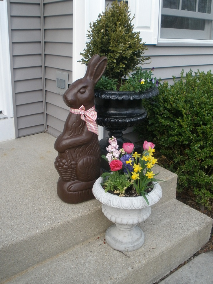 Large Plastic Chocolate Bunny For Outside Easter