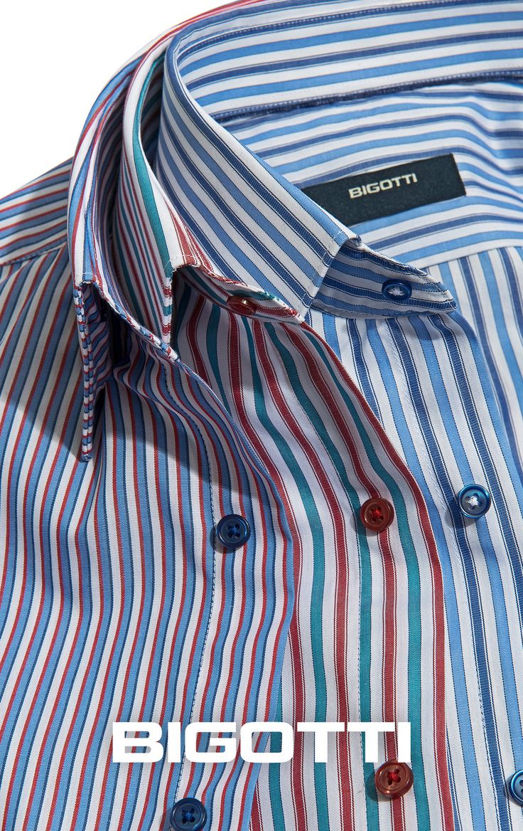 The #Bigotti #striped #shirt - a #perfect #summer #wardrobe #addition www.bigotti.ro #mensfashion #camasi #dungi #coloured #follow #Bigottiromania #menswear #mensclothing #mensstyle #moda #barbati #culori #colorate #vara #garderoba #casual #smartcasual #versatile #fresh #cool
