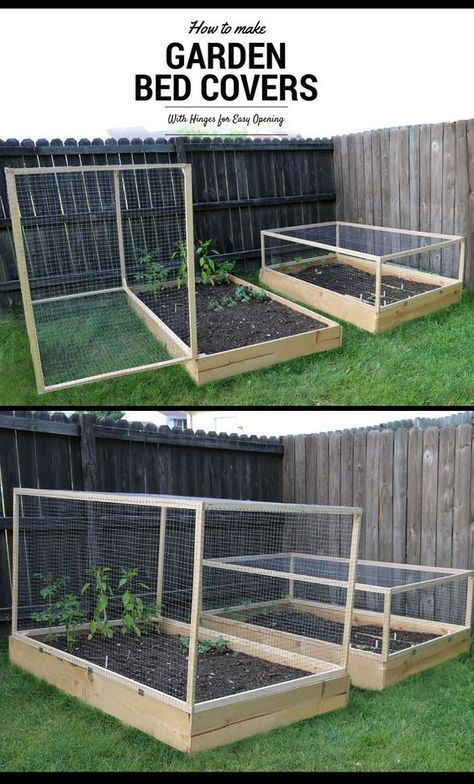 How to Make a Raised Garden Bed Cover With Hinges ,  Claudine Janssen