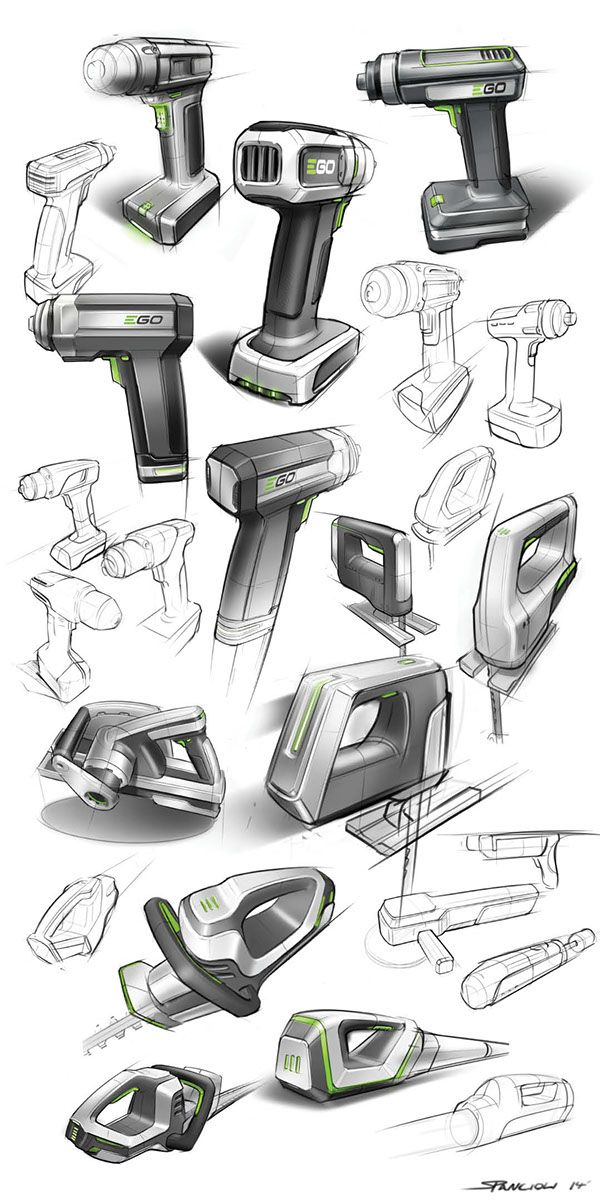 Chervon power tool sketches on Behance