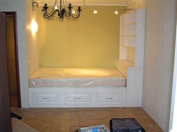 Белая кровать | Мебель |