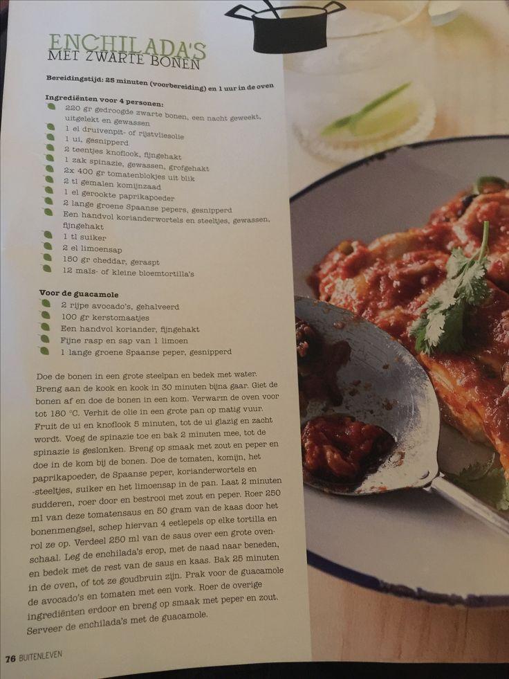 Enchilada's met zwarte bonen