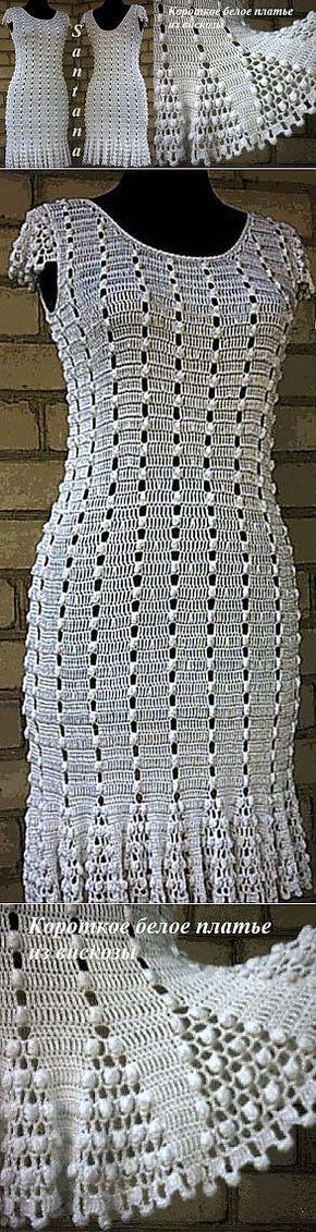 Короткое белое платье из вискозы...