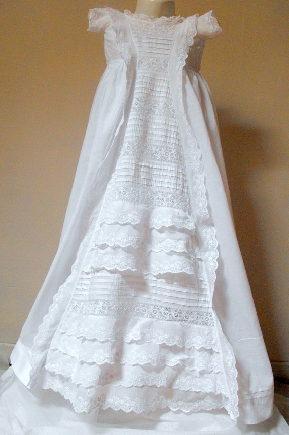 Vintage Victorian Christening Gown English Christening